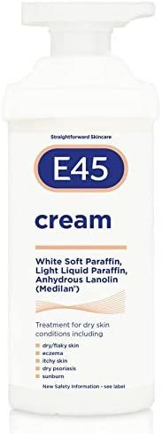 E45 Dermatological Moisturising Cream Tub, 350 g