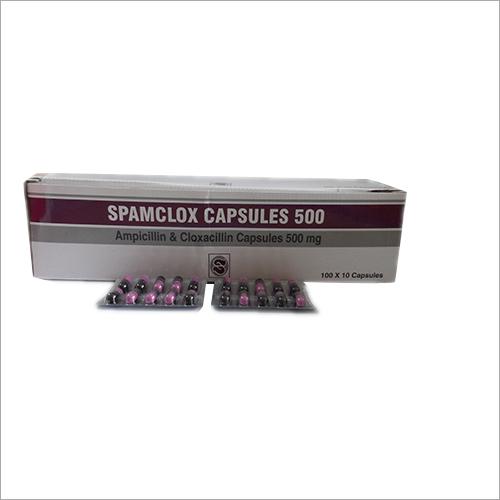 Spamclox Ampicillin and Cloxacillin Capsules 500 mg 100 X 10