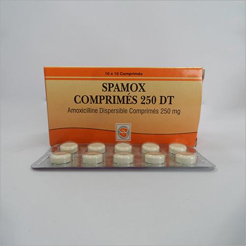 Spamox 250 mg Amoxicillin Dispersible Tablets