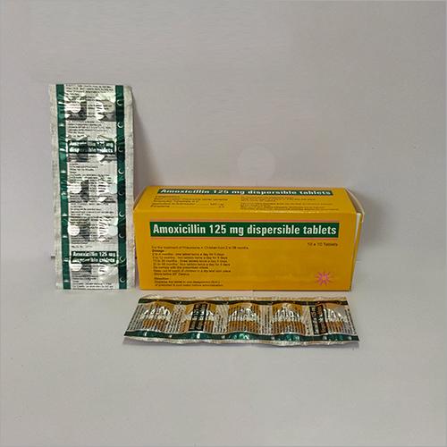 125 mg Amoxicillin Dispersible Tablets