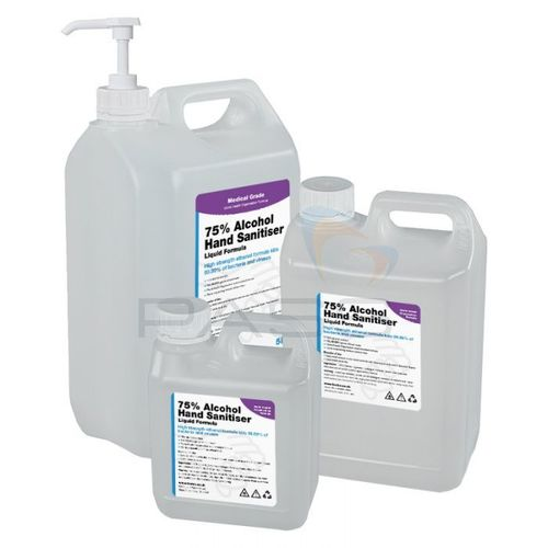 1,2.5 & 5L 75% Alcohol Liquid Hand Sanitiser
