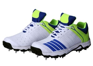 Cricket Shoe full spike Blue And White Color