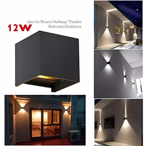 12W Cube Wall Led Lamp Waterproof IP65 Indoor/Outdoor (Warm White)