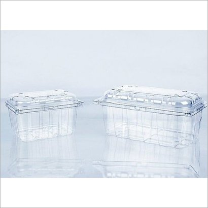 Plastic 250 Gm And 500 Gm Fruit Punnet Hinged Box