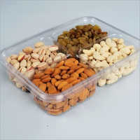 4 compartment 400 gm Dry Fruit Hinged Box