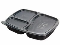 3 Cp Disposable Plastic Meal Food Tray