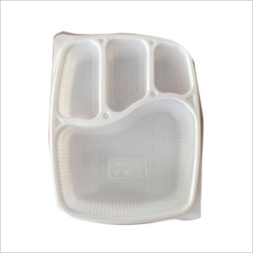4 CP Plastic Meal Food Tray