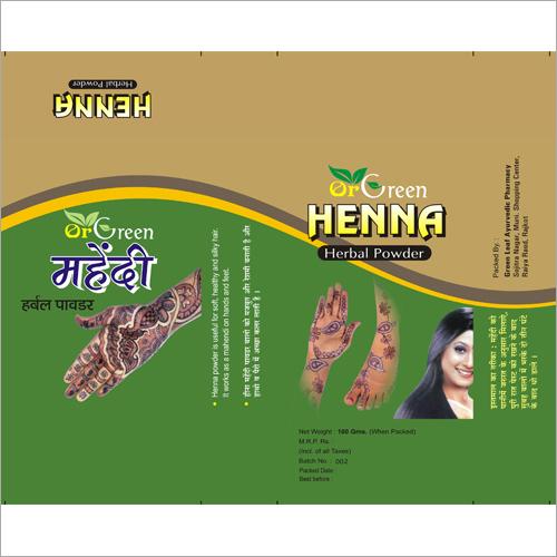 Henna Mehandi Herbal Powder
