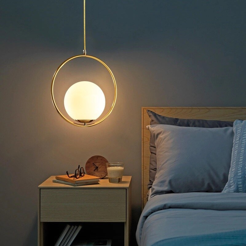 Post Modern Round Shape Glass Ball Pendant Lamp (Warm White)