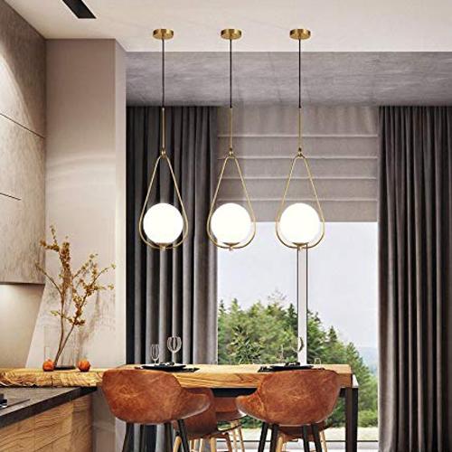 Post Modern Triangle Shape Glass Ball Pendant Lamp (Warm White)