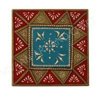 Wooden Handicraft Jewelry Box Hand Made Art Small Square