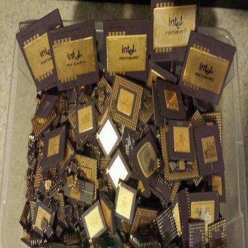 Ceramic CPU Scrap / Processors/ Chips Gold Recovery, Motherboard Scrap, Ram Scrap