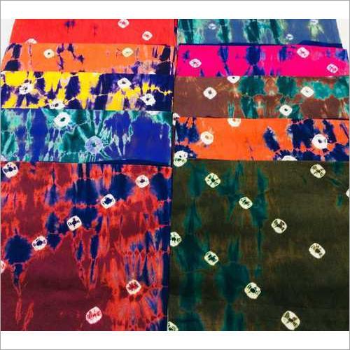 Bandhej Print Cotton Nighty Fabric