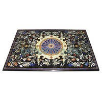 Exclusive Black Marble Inlaid Dining Table Tops For Dining Room