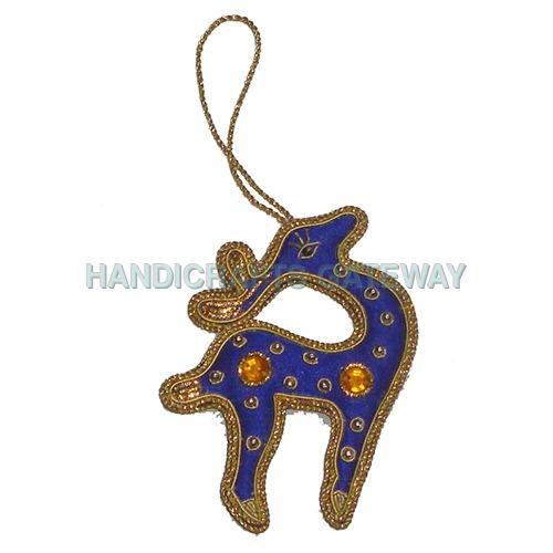Beautiful Zari Hand Embroidery Christmas Tree Decoration Ornament