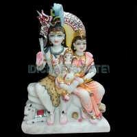 Stone Shankar Parvati God Statues