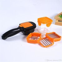 Plastic Vegetable Dicer Chopper 5 in 1 Multi-Function Slicer with Container Onion Cutter Kitchen