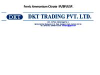 Ferric Ammonium Citrate IP / BP/ USP