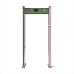 Walk-Through Metal Detector With Body Temperature Measuremen