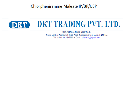 Chlorpheniramine Maleate IP/BP/USP