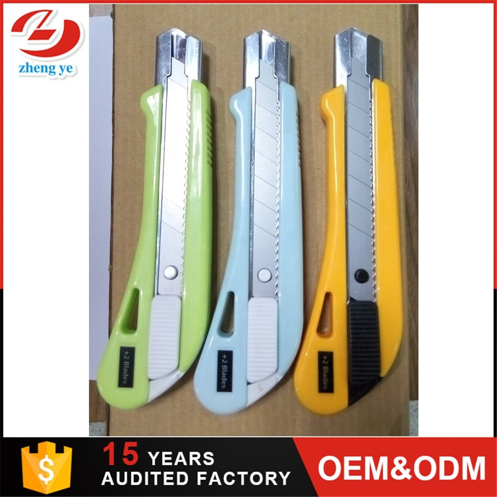 18mm Office Tool Safety Lock Top Quality Cutter Knife Utility Knife