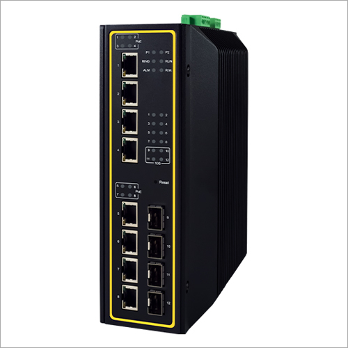 12-Port High-Bandwidth Industrial Managed Switch