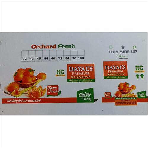 Printed Fruit Packing Box