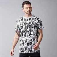 Mens Printed Half Sleeve T-Shirt
