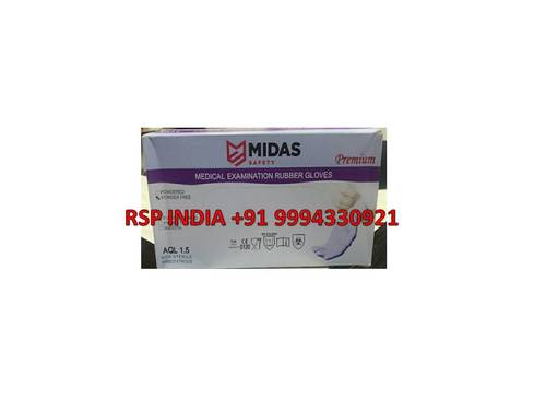 MIDAS MEDICAL EXAMINATION RUBBER GLOVES