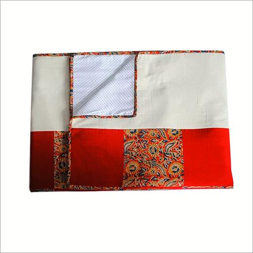 Kalamkari Printed Double Bed Quilt