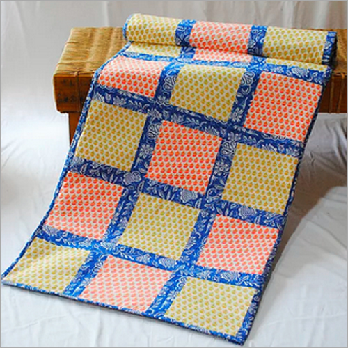 Check Print Cotton Single Bed Quilt