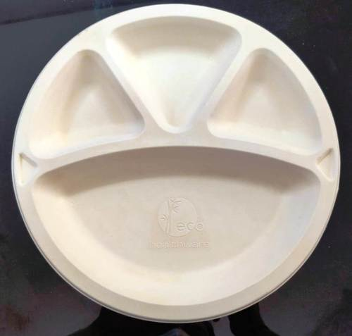 Biodegradable 11'' CP Meal Plate