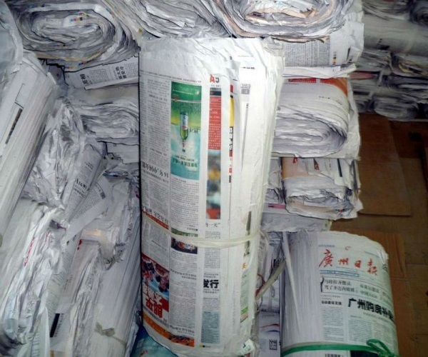 Over Used News Paper Scrap