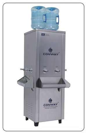 CONWAY BWD 250 STAINLESS STEEL COMMERCIAL BOTTLE WATER DISPENSER - NORMAL & COLD