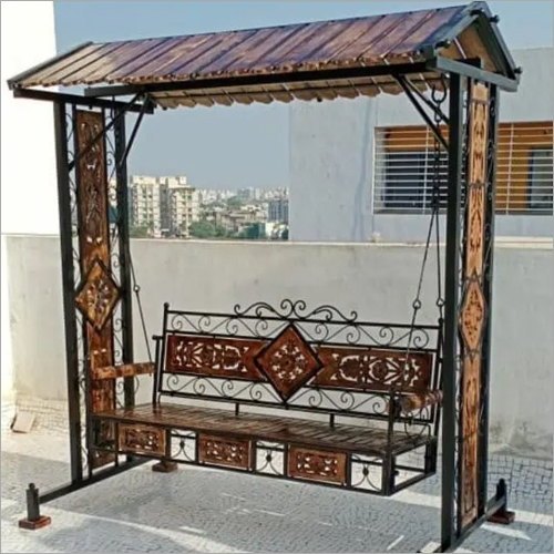 Wrought Iron Outdoor Swing