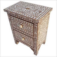 Bone Inlay Chest Of Drawer
