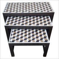Bone Inlay Nesting Tables