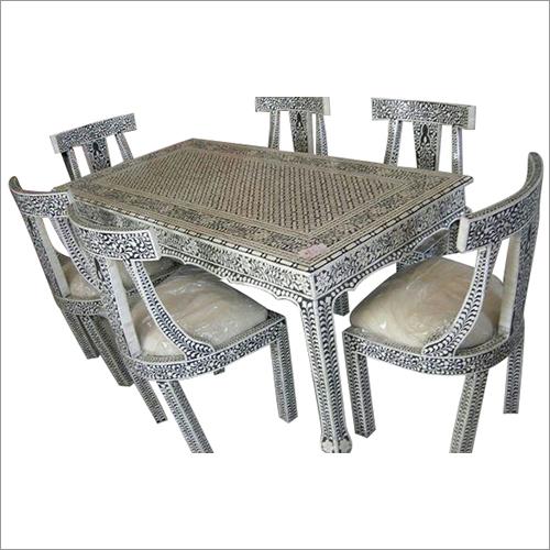 Bone Inlay Dining Table