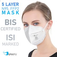 Suvayu SV9500 ISI Approved (BIS-9473) Filtering Half Face Mask - White