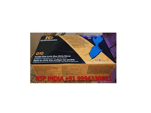 G10 Powder Free Arctic Blue Nitrile Gloves