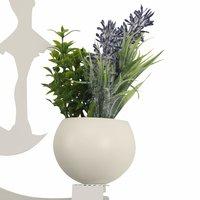 23W Wall led Lamp Dancing Girl & Flower Pot, (Warm White + White)
