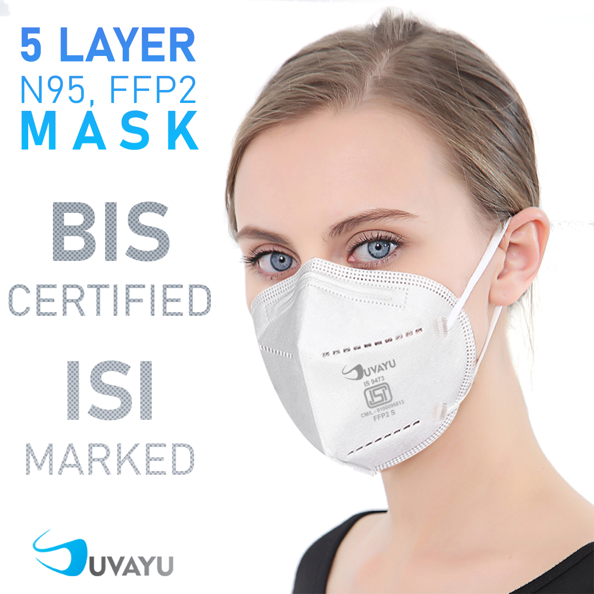 Suvayu SV9500 ISI Approved (BIS-9473) Filtering Half Face Mask - Yellow