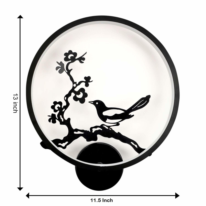 25W Wall led Lamp Round Bird, (Warm White)
