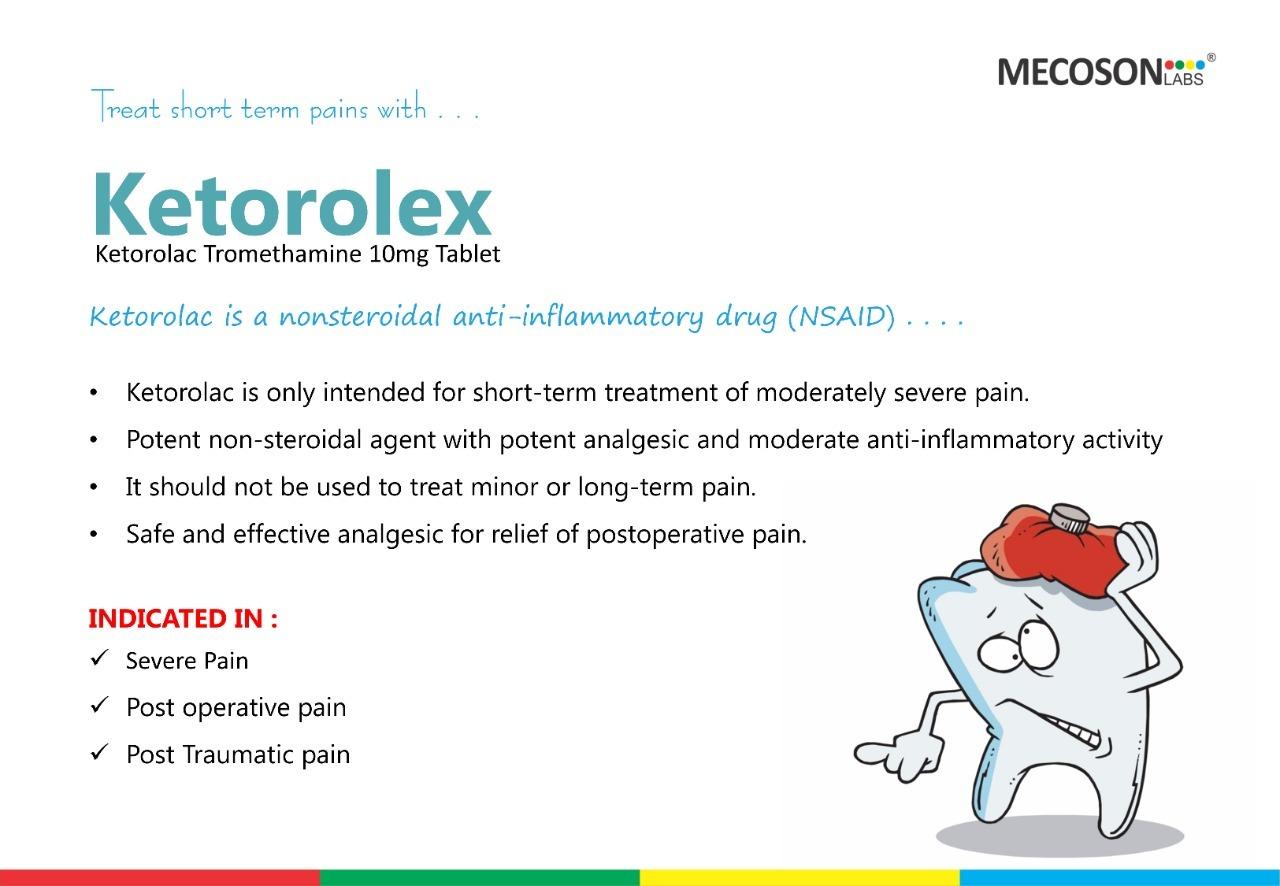10mg Tablet Ketorolac Tromethamine