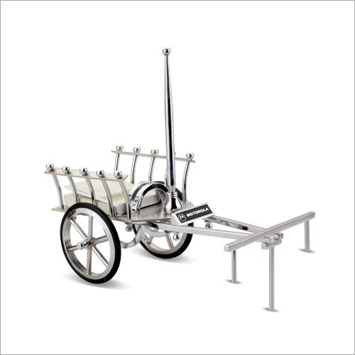 Silver Bullock Cart Desktop Gift