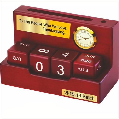 Perpetual Desktop Wooden Calendar
