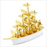 Elegance Gold Ship Desktop Gift