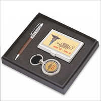 Office Pen Keychain And Card Holder Gift Set