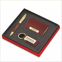 Corporate Pen Keychain And Card Holder Gift Set