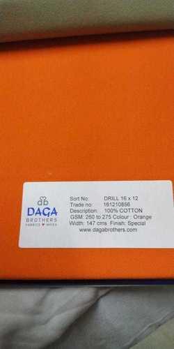 16x12 Drill 280gsm Fabrics
